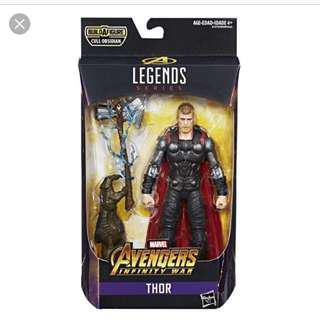 Marvel legends Thor 雷神 黑寡婦 black widow  黑豹 美國隊長 無限之戰 infinity war hottoys mafex shf medicom  蜘蛛俠