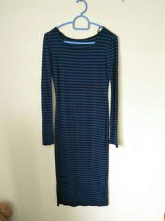 Forever 21 tight stretchable stripes dress