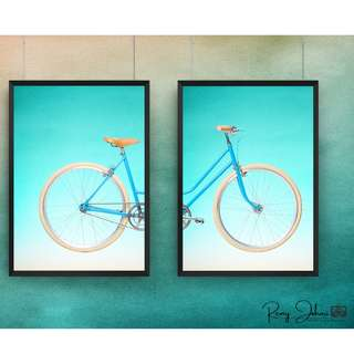 Bicycle Front and Back Wall Art