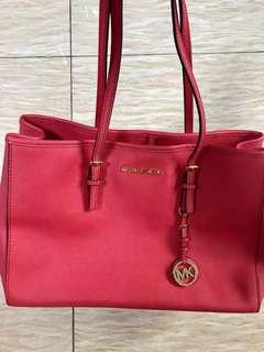 Michael Kors Handbag,MK紅色袋
