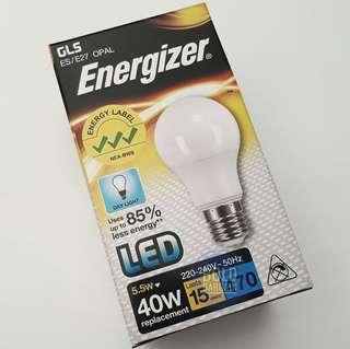 Energizer E27 LED Bulb 5.5W 40W Equivalent Day Light White Opal 6500K 220V