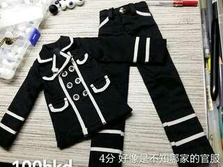 BJD4分 1/4 黑白服