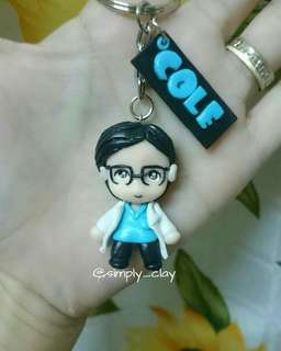 Personalized Chibi keychain with nameplate