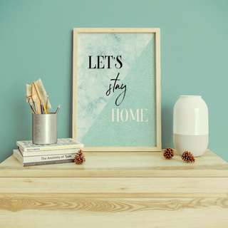 Let's Stay Home Prints