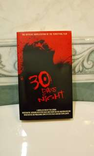 30 Days Of Night Novel