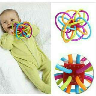 Baby rattle teething ball