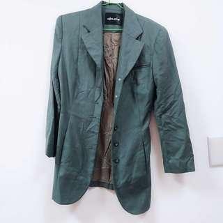 🚚 ✨出清✨墨綠長版西裝外套