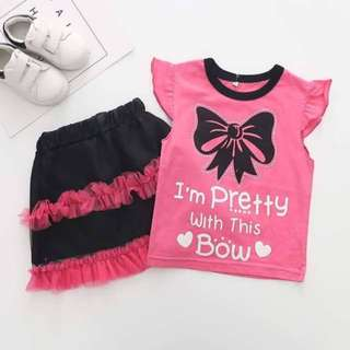 SET GIRL TUTU SKIRT ~READY STOK~