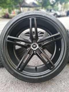 Vossen cv5 17 inch sports rim almera tyre 70%. *mora mora sahaja bosku*