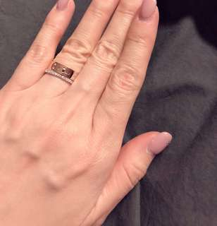 ✨Hermes 經典 Kelly 玫瑰金鑽石戒指💍