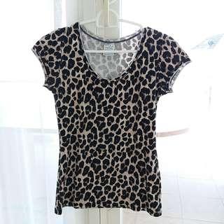Kaos zara leopard