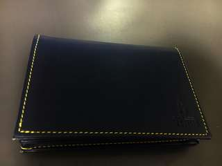 Dark blue card holder