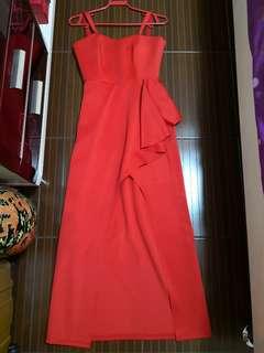 PRELOVED ISHTA sexy red long dress