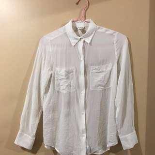 Club Monaco White Shirt-Size XS