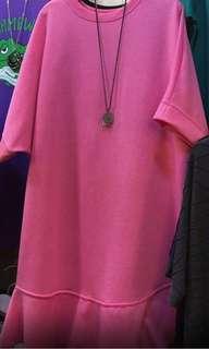韓國粉色連衣裙