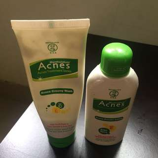 Acnes Creamy Wash&Powder Lotion(2 items)