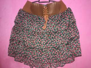 Skirt with Belts