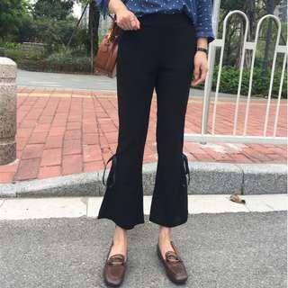 Women Ribbon Split Pants