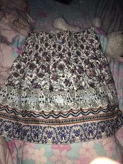 minimal vintage skirt