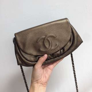** SOLD ** CHANEL WOC Half Moon Wallet On Chain
