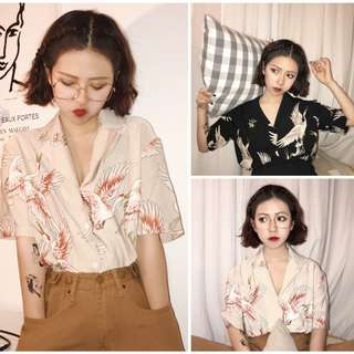 Women Crane Blouse 2