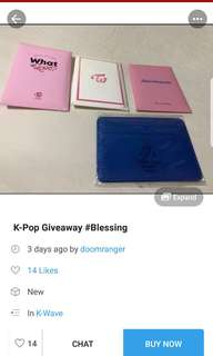 Twice giveaway
