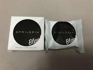 Aprilskin black natural cleansing soap 天然 洗面皂