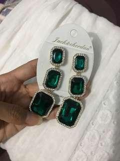 Anting panjang berlian Diamond Earings wedding