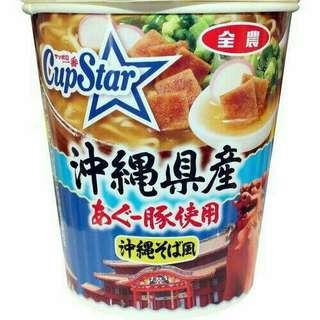 日本境內版沖繩豬肉蕎麥麵/泡麵