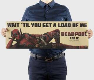Deadpool DC Comics Superheroes classic vintage kraft paper movie poster