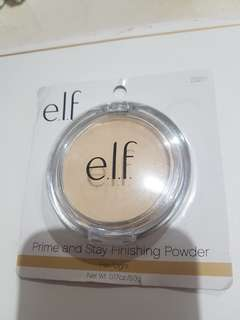 elf prime and stay finishing powder - light/ fair