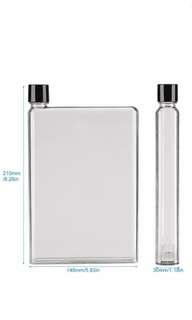🚚 Leak proof flat slim plastic water bottle