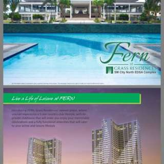 14k monthly only to have your SOLID INVESTMENT here at GRASS RESIDENCES just beside SM NORTH EDSA