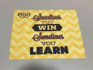 ✅🉑交換✅egg眼鏡布(Sometime You Win Sometime You Learn)👓✨全新📮包郵