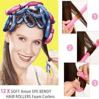 Magic Curly Sponge12 pcs - sponge alat keriting rambut