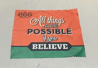 ✅🉑交換✅egg眼鏡布(All things are Possible if you Believe)👓✨全新📮包郵