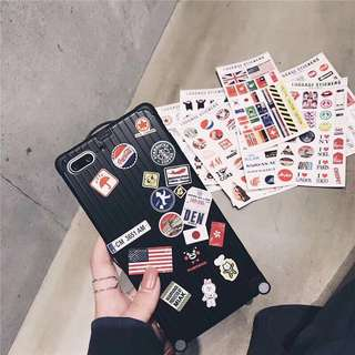 Iphone case 6,7,8 Plus with free 8 stickers