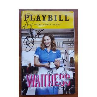 Waitress the Musical (Sara Bareilles) Playbill Signed by Katharine McPhee & other casts