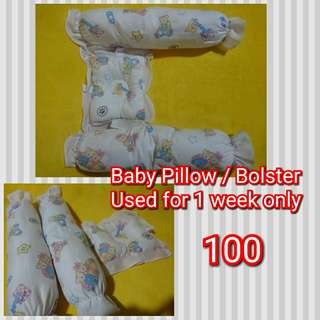 Baby pillow and bolster