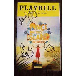 SIGNED Once On This Island May 2018 Playbill starring Lea Salonga
