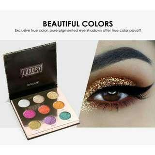 Focallure luxury ultra glame glitter palette ready stock!!  No po.