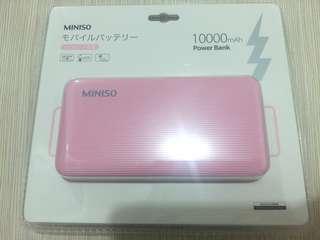 Miniso 10000mAh power bank 外置叉電器/充電器 尿袋