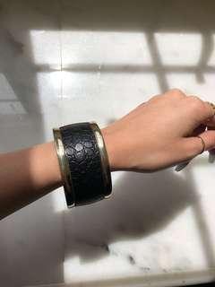 Faux leather bangle