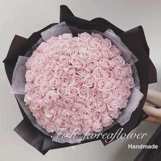 韓式 花束 99枝