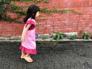 Pink kids Jubah/ kids long dress