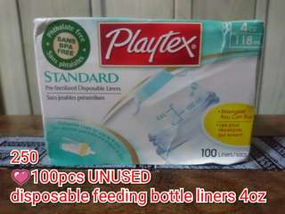 Playtex 4oz disposable liners or drop ins