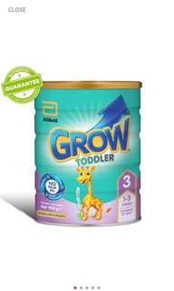 🚚 Abbott Grow Toddler Stage 3 (900G) Milk Powder