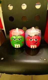 全新M&M's陶瓷罐/儲物罐