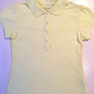 Lands End Girls Size 7/8 Polo Shirt - Good Condition