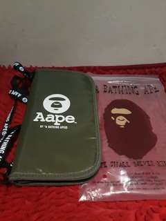 AAPE Bape Wallet Passport Card Shoulder Bag Japan Appendix Magazine ORIGINAL